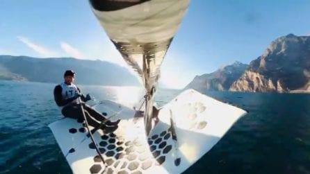Ruggero Tita, medaglia d'oro alle Olimpiadi: le spettacolari immagini sul Lago di Garda