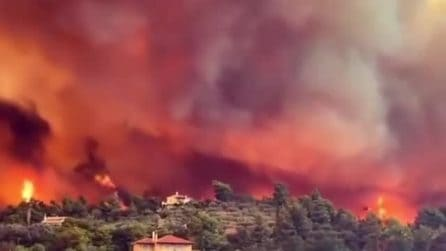 Eubea in fiamme, situazione grave sulla seconda isola più grande della Grecia
