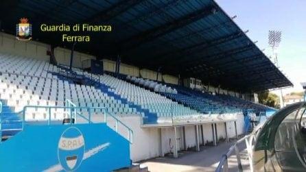 """""""Pericoloso per gli spettatori"""": sequestrato lo stadio di Ferrara"""