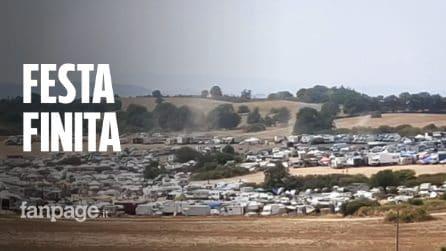 """Viterbo, l'area del mega rave è stata liberata: """"Non è rimasto più nessuno"""""""