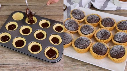 Mini tartellette al cioccolato: bellissime e golose!