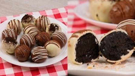 Palline al cioccolato senza cottura: i dolcetti freddi da gustare in un sol boccone!