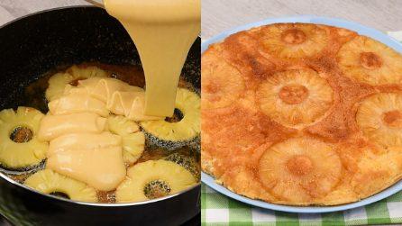 Torta all'ananas caramellata: pronta in padella in pochi minuti!