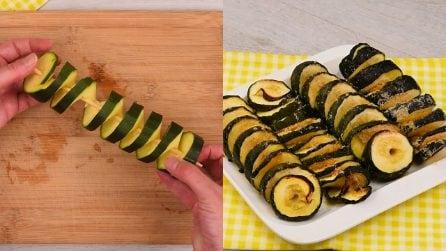 Spirali di zucchine al forno: il contorno ideale a tutti i tipi di secondi!