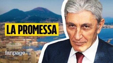 """La promessa di Antonio Bassolino a Napoli: """"So cosa fare per farla rinascere"""""""