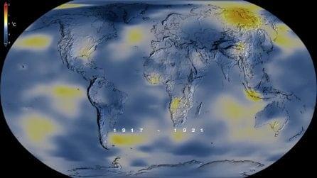 Come si è riscaldata la Terra negli ultimi 140 anni: le immagini NASA