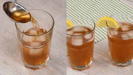Homemade lemon ice tea: the ideal solution to cool off on hot days!