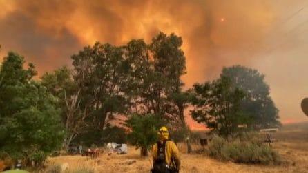 California, infuria e devasta ettari di terreno l'incendio Dixie