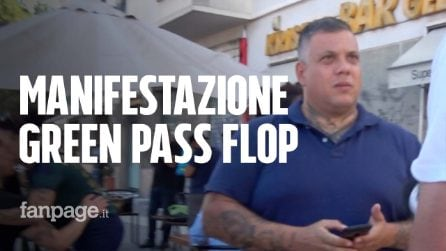 La manifestazione No Vax a Roma è un flop e i militanti di estrema destra si radunano al bar