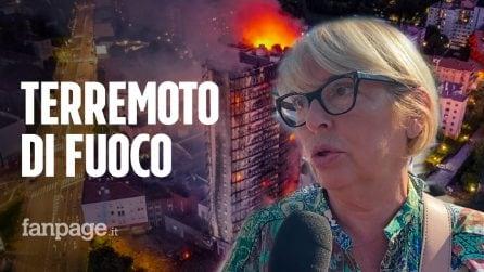 """Incendio a Milano, un'inquilina: """"È stato un terremoto di fuoco, della mia casa non è rimasto nulla"""""""