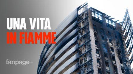 """Incendio in via Antonini a Milano: """"Sembra di vedere un fazzoletto imbevuto di alcool"""""""