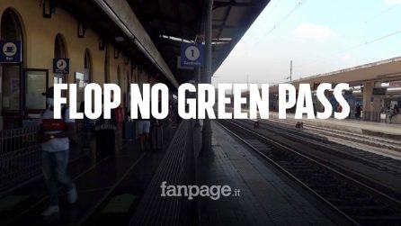 Bologna, flop della protesta contro il Green Pass alla stazione: presenti solo una decina di manifestanti