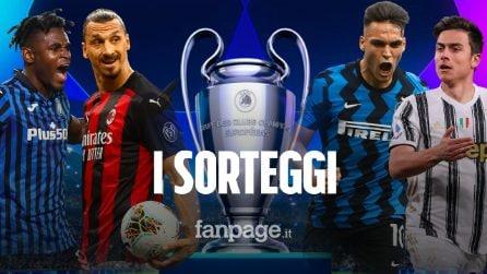 Sorteggi Champions League 2021/22: i gironi di Inter, Milan, Juventus e Atalanta