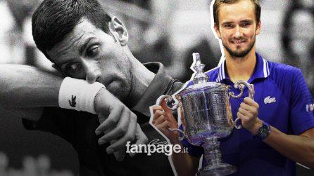 Medvedev vince gli US Open, battuto in tre set il numero 1 al mondo Novak Djokovic