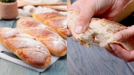Filoni di pane fatti in casa: come fare il pane morbido dentro e croccante fuori!