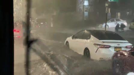 Tempesta Ida a New York, strade allagate e caos