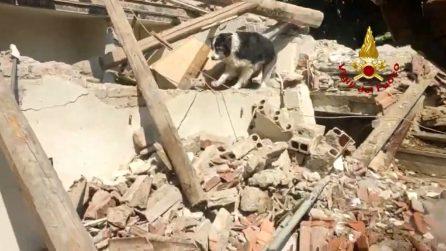 Crolla casa a Pontremoli, vigili del fuoco scavano tra le macerie alla ricerca di persone