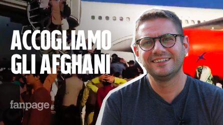 """Afghani accolti in Italia: """"Qui un medico fuggito da Kabul con la famiglia perché aiutava italiani"""""""