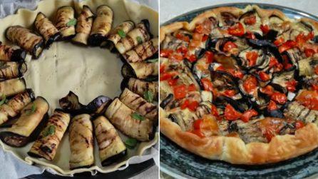 Pizza rustica con melanzane ripiene: l'idea semplice e saporita
