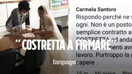 """La vera storia della prof Carmela: """"Costretta a firmare in abito da sposa per non perdere il lavoro"""""""