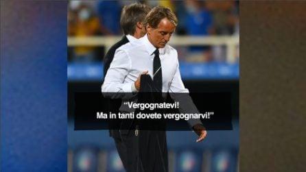 """""""Porca tr**a"""", le immagini del ct Mancini infuriato"""