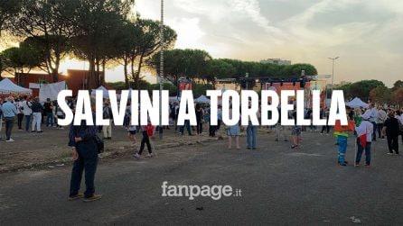 """Comunali Roma, Salvini: """"Unici a chiudere in periferia"""". Ma Lega non riempie la piazza a Tor Bella"""