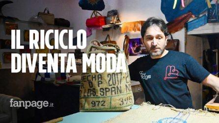 Da riciclo, i materiali diventano moda: ai Quartieri Spagnoli, nascono le borse di Giuseppe Cognetti