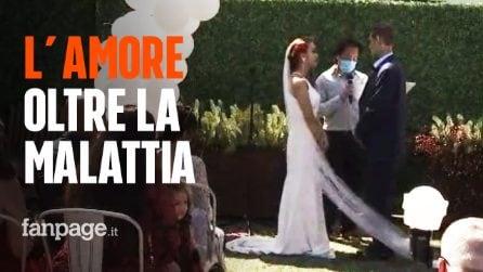 """Gli restano pochi giorni di vita, Sergio a 20 anni sposa il suo grande amore: """"Lei sarà sempre lì"""""""