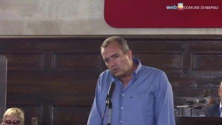 L'ultimo discorso del sindaco Luigi De Magistris al consiglio comunale di Napoli