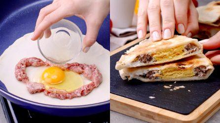 Calzone in padella con carne e uova: croccante e sottile da gustare ad ogni morso!