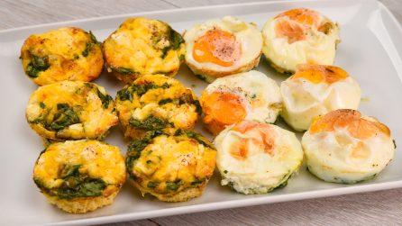 Tortini di uova al forno: due versioni da preparare in un attimo!