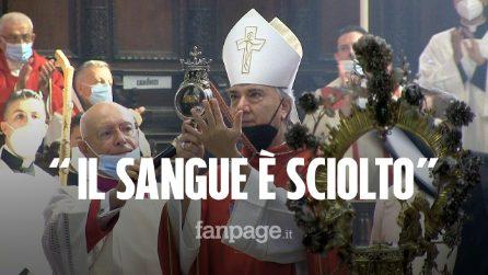 Napoli, si scioglie il sangue di San Gennaro