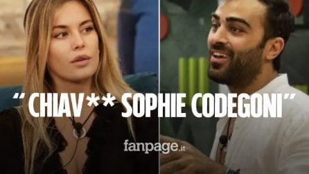 """Gianmaria Antinolfi al GF Vip: """"Farei sesso, gli amici mi hanno chiesto di chiav** Sophie Codegoni"""""""