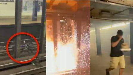 Una bicicletta lasciata sui binari scatena il panico alla stazione della metro