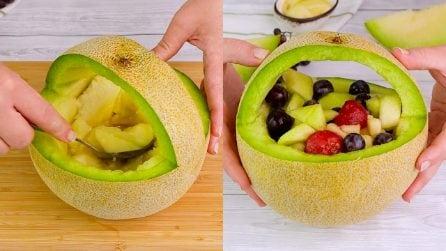 Come presentare la frutta con un bellissimo cesto di melone: ci vogliono pochissimi passaggi!