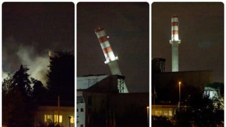 Sesto San Giovanni, abbattuto il camino dell'ex termovalorizzatore alto 70 metri: il video