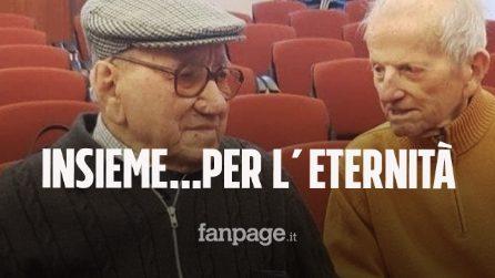 Valentino e Leandro amici per 100 anni morti a 2 ore di distanza: sepolti uno accanto all'altro
