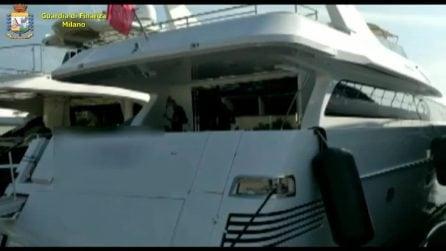 Il mega yacht da 32 metri dell'imprenditore-evasore fiscale: la Finanza lo sequestra