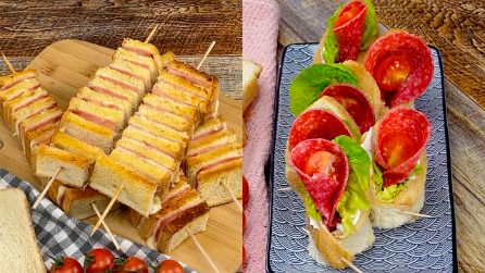 2 idee pazzesche con il pane per tramezzini per rendere unici i tuoi aperitivi!