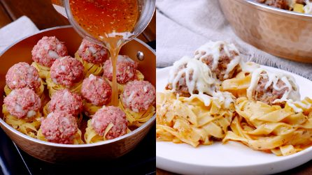 Pasta nests: an alternative version of a classic dish!