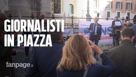 """I giornalisti in piazza: """"Dal governo meno solidarietà e qualche provvedimento in più"""""""