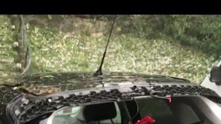 Maltempo Toscana, auto distrutte dalla grandine a Vaglia