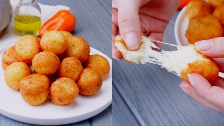 Cheese balls: delicious finger food ready even without flour!