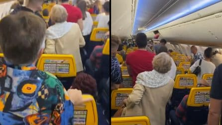 Due passeggeri in più sul volo Bergamo-Napoli, volo bloccato: le proteste dei passeggeri a bordo