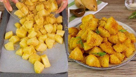 Crumb coated roasted potatoes: a side-dish to make in no-time!