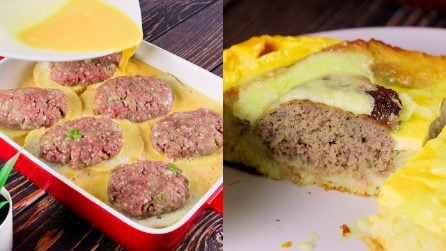 Omelette with bread and meatballs: a delicious idea for a quick dinner