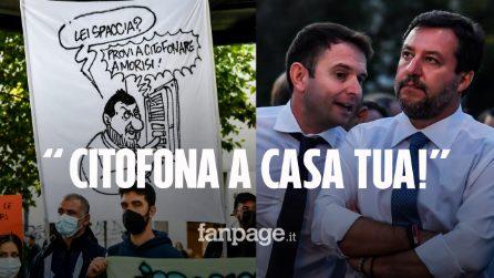 """Salvini contestato a San Siro: """"L'ipocrisia è una brutta bestia, citofona a casa tua"""""""