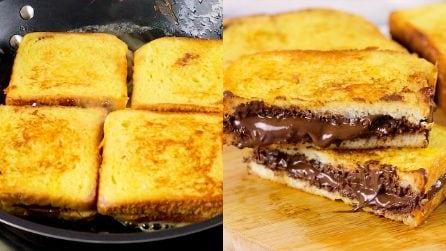 French toast ripieni di crema di nocciole: per un'irresistibile merenda da gustare con piacere!