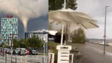 Tornado da brividi, tetti divelti e alberi crollati: alcune persone restano ferite