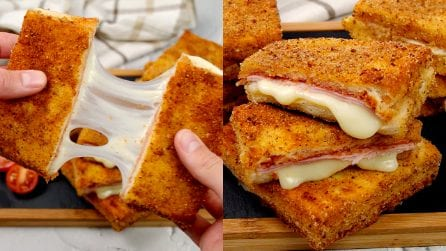 Fried toast: how to make them super cheesy and super tasty!